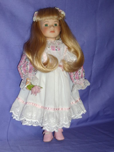 Porcelain Blonde GirlDoll