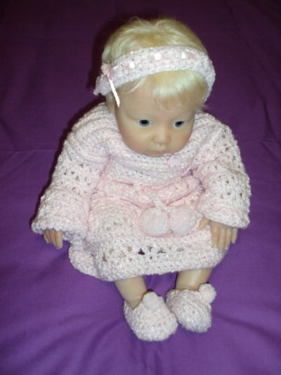 Pink Crocheted Outfit