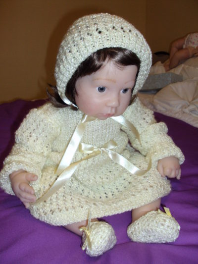 Crocheted Yellow Dress Set