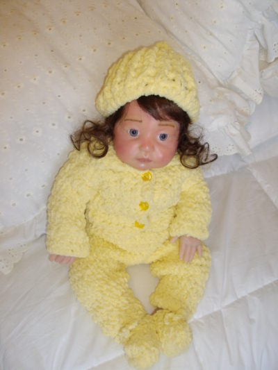Yellow Crocheted Pant Set